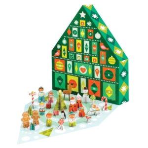 Adventný kalendár s 21 skladacími figúrkami z recyklovaného papiera a rastlinného atramentu Petit collage Tree - papierový adventný kalendár -  čo do adventného kalendára -  výroba adventného kalendára -  inspiracia adventny kalendar