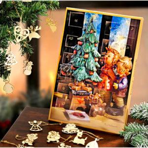 Magnet 3Pagen Adventný kalendár Hummel -  netradičný adventný kalendár -  kinder adventný kalendár -  adventný kalendár pre deti -  adventný kalendár pre dievčatá -  detský adventný kalendár - drevený adventný kalendár