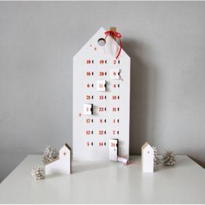 Adventný kalendár s červenými detailmi Unlimited Design for kids - papierový adventný kalendár -  čo do adventného kalendára -  výroba adventného kalendára -  inspiracia adventny kalendar