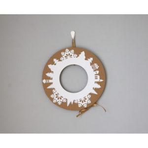 Adventný veniec so zlatou stuhou Unlimited Design for kids - adventný veniec -  adventny veniec -  adventný venček -  adventny vencek -  adventne sviece -  adventné sviečky -  adventné ozdoby -  vianočný veniec na dvere -  vianočné ozdoby -  vianočné dekorácie