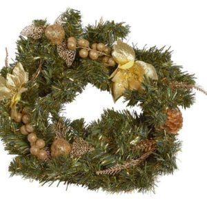 Christmas gifts Veniec so zlatou dekoráciou