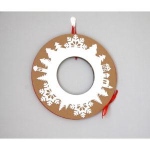 Adventný veniec s červenou stuhou Unlimited Design for kids - adventný veniec -  adventny veniec -  adventný venček -  adventny vencek -  adventne sviece -  adventné sviečky -  adventné ozdoby -  vianočný veniec na dvere -  vianočné ozdoby -  vianočné dekorácie