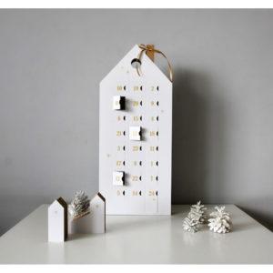Adventný kalendár so zlatými detailmi Unlimited Design for kids - papierový adventný kalendár -  čo do adventného kalendára -  výroba adventného kalendára -  inspiracia adventny kalendar