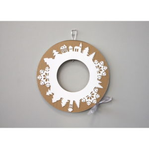 Adventný veniec so sivou stuhou Unlimited Design for kids - adventný veniec -  adventny veniec -  adventný venček -  adventny vencek -  adventne sviece -  adventné sviečky -  adventné ozdoby -  vianočný veniec na dvere -  vianočné ozdoby -  vianočné dekorácie