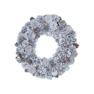 Biely adventný veniec so šiškami Green Gate Wreath Hailey