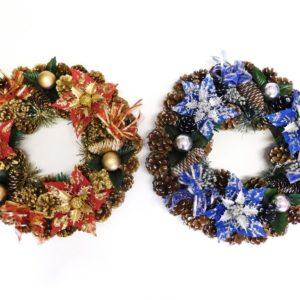 Veniec veľký 40cm - adventný veniec -  adventny veniec -  adventný venček -  adventny vencek -  adventne sviece -  adventné sviečky -  adventné ozdoby -  vianočný veniec na dvere -  vianočné ozdoby -  vianočné dekorácie