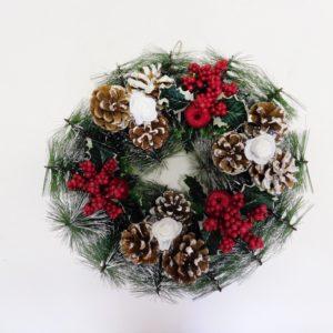 Veniec vianočný - adventný veniec -  adventny veniec -  adventný venček -  adventny vencek -  adventne sviece -  adventné sviečky -  adventné ozdoby -  vianočný veniec na dvere -  vianočné ozdoby -  vianočné dekorácie