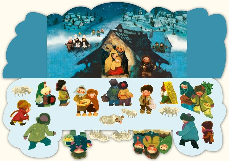 skladaci papierovy betlehem, betlehem jiri trnka, adventne aktivity s detmi, adventne aktivity pre deti, papierovy adventny kalendar, papierovy betlehem