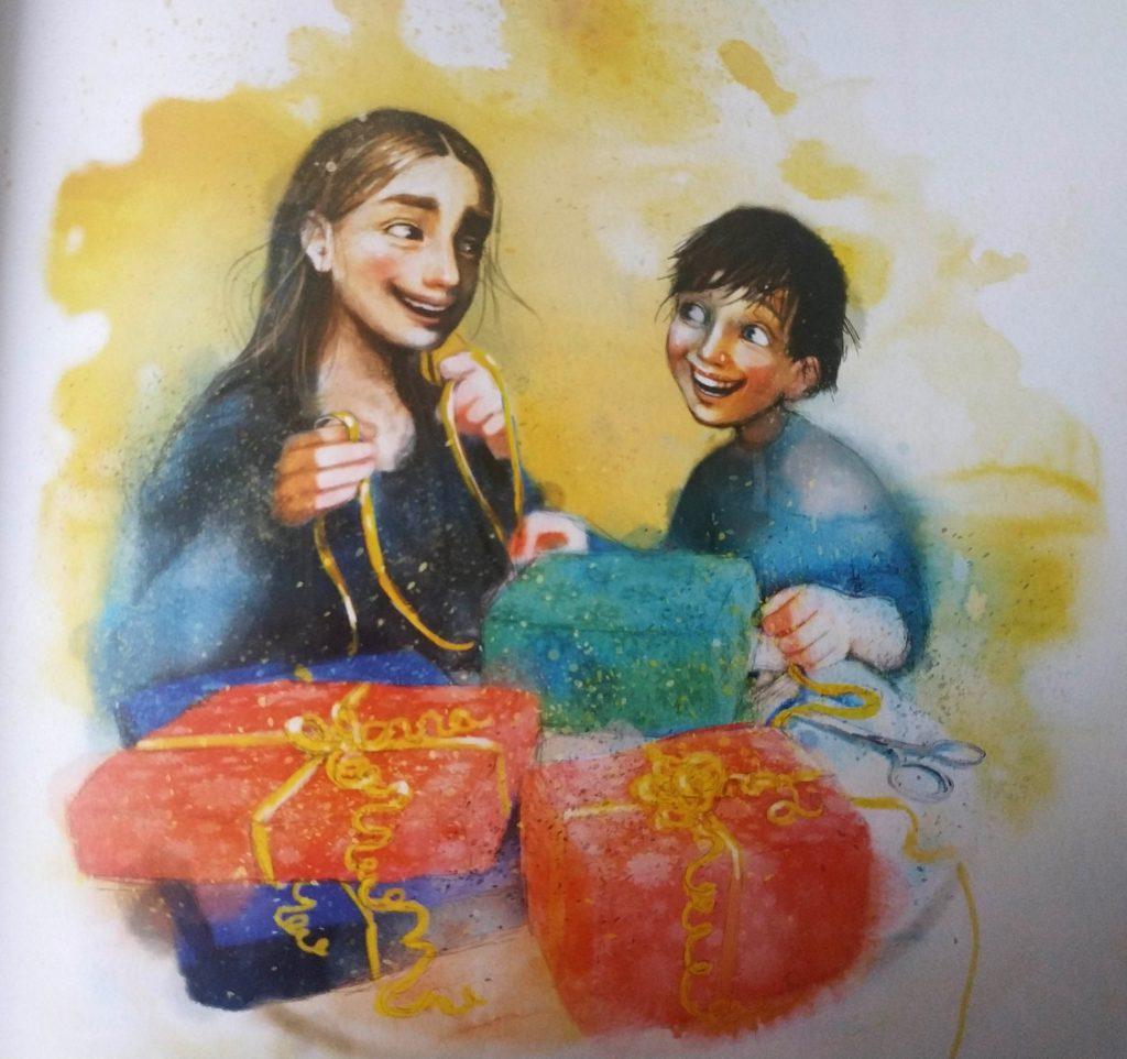Snehová sestra vianočné detské knihy detské knihy o Vianociach Maja Lunde vianočné príbehy pre deti snežítko príbeh o priateľstve príbeh o smrti, Julián, Hedviga